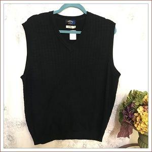 Callaway Golf Collection Mens 100% Silk Black Vest
